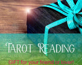 Same Day Shipping Birthday Card with Tarot Reading Gift, Last minute Gift with High Value!
