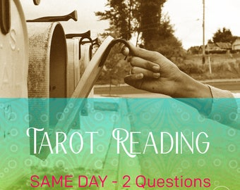 2 Questions Same Day Tarot Reading, Accurate Psychic Card Reading, Fast shipping within 24 hours by Email