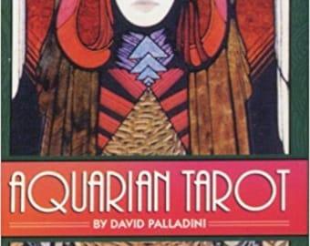 "Vintage Aquarian Tarot Deck with 78 Tarot Cards by Palladini, David, Art Deco Style in Paperback 5 5/8"" x 3"" x 1"" or Tarot Tin 2.30"" x 3.70"