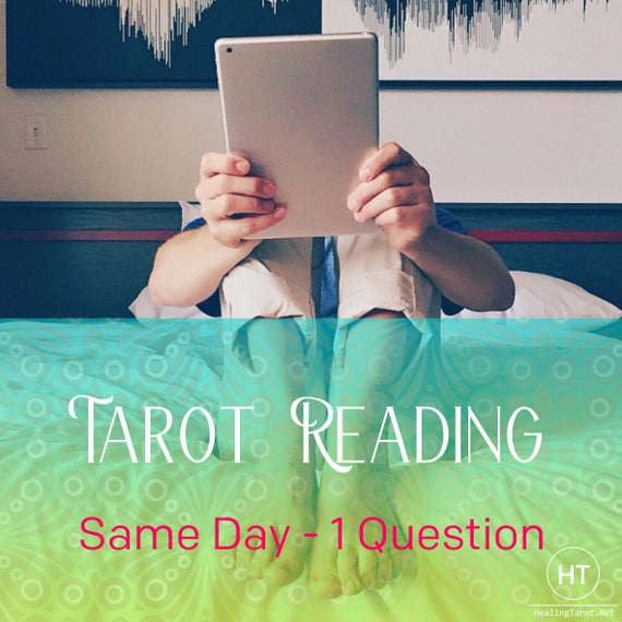 MÊME jour lecture du Tarot par EMAIL carte de 200 mots   Etsy a255a169aff7