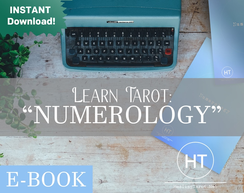 Learn To Read Numerology in Tarot Cards Printable Cheatsheet image 0