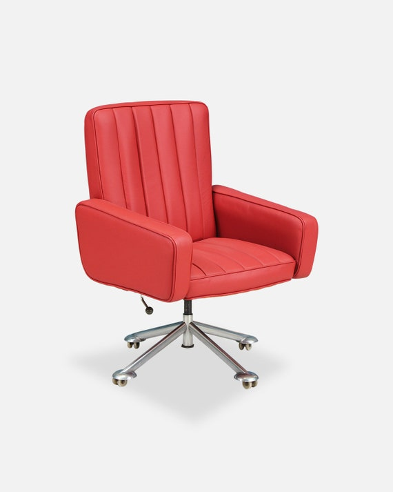 Tremendous Sven Ivar Dysthe Leather Office Chair For Dokka Mobler Ibusinesslaw Wood Chair Design Ideas Ibusinesslaworg