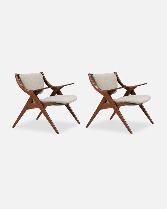 Strange Mid Century Modern Scissor Lounge Chairs Caraccident5 Cool Chair Designs And Ideas Caraccident5Info