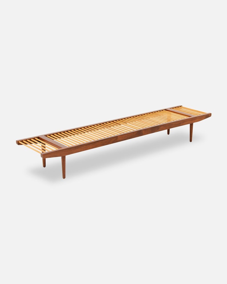 Excellent Milo Baughman Large Dowel Bench For Glenn Of California Andrewgaddart Wooden Chair Designs For Living Room Andrewgaddartcom