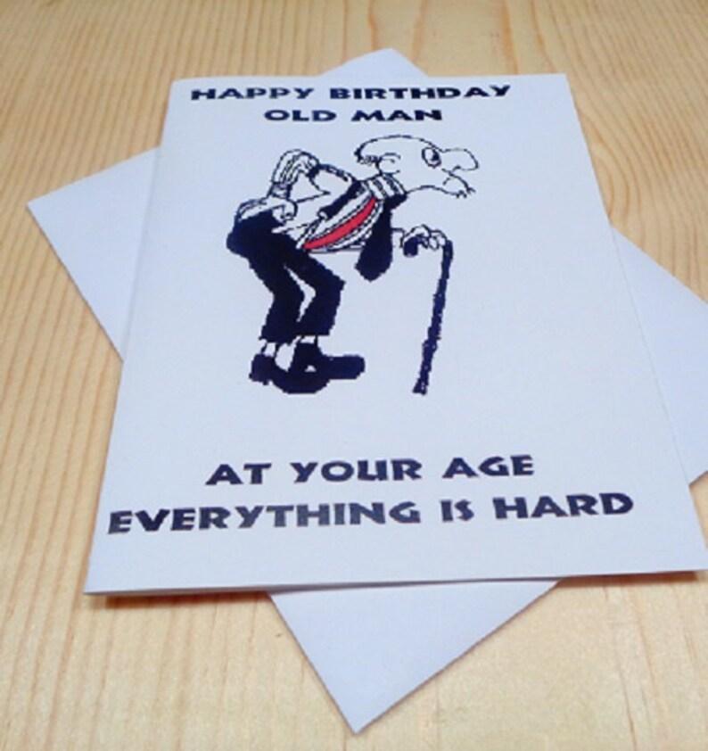 Alter Mann Lustige Geburtstagskarte Etsy