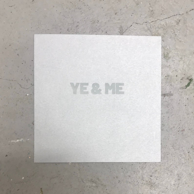 Ye & Me Card Silver image 0