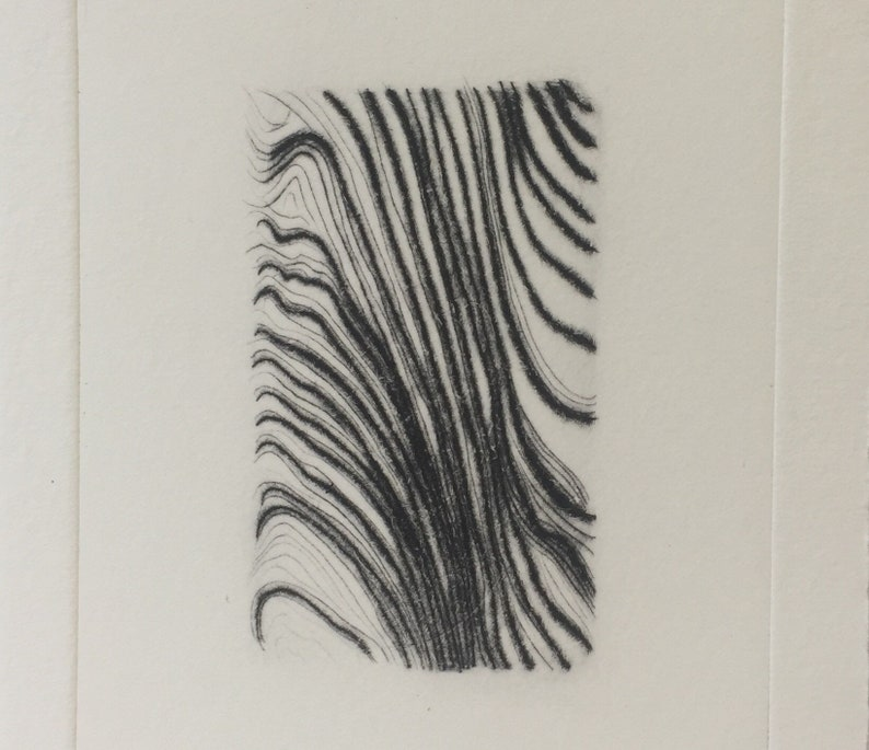 Cypress  drypoint woodgrain pattern etching image 0