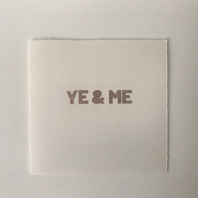 Ye & Me Card Copper image 0