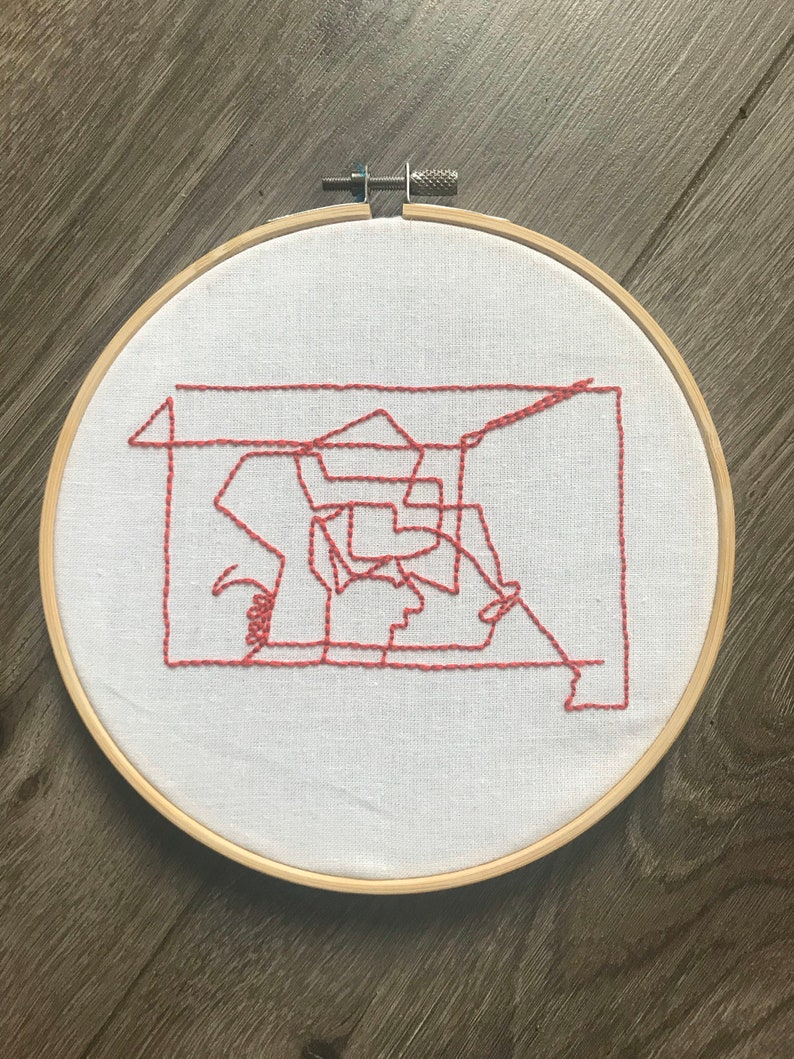 Art Inspired Embroidery: Command Lines 1 image 0
