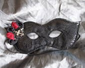 Carnival Mask, Masquerade Mask, Sexy, Party, Gothic, Bondage Mask, Burlesque Mask, Cosplay, Black, Red