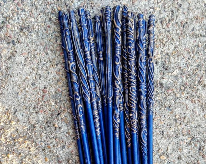 Blue Wizard Wands - Wizard Wands - Witch Wands - Party Favors