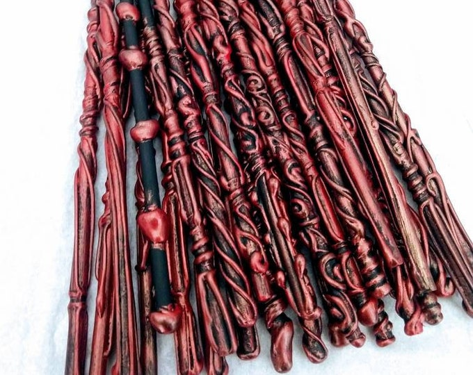 Magic Wands - Bachelorette Party Favors - Wedding Favors - Red and Black Wands Halloween Costumes