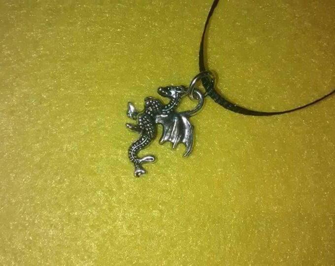 Dragon Necklace - Dragon Charm - Party Favors - Birthday Party Favors - Dragon Party - Dragon Party Favors