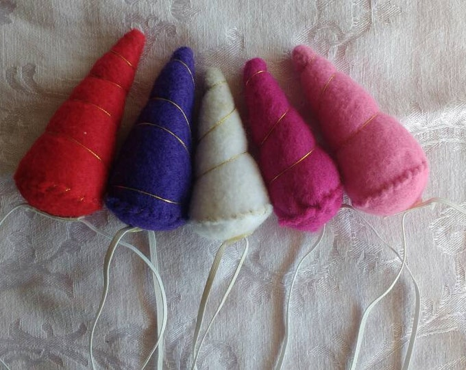 Mini Felt Unicorn Horns - Mini Unicorn Horns -. Unicorn Horn