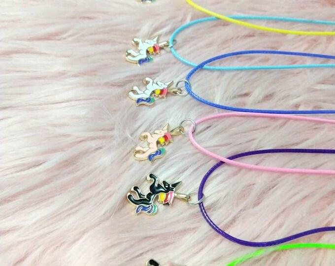 Unicorn Necklace - Unicorn Charm - Party Favors - Birthday Party Favors - Unicorn Party - Unicorn Party Favors