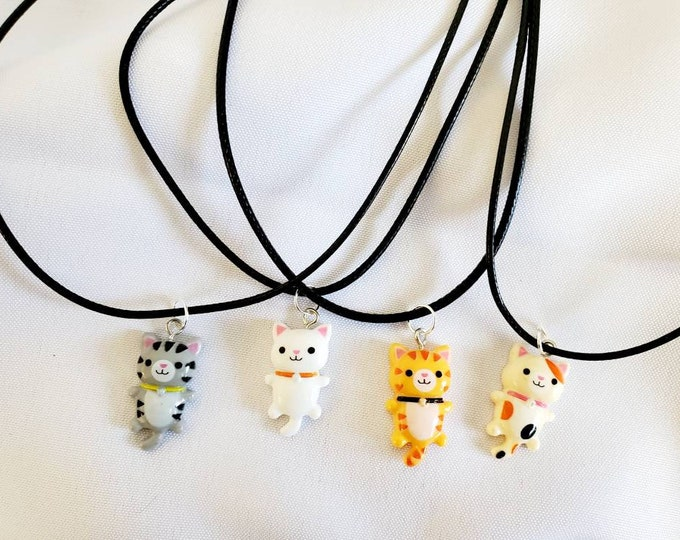 Little Kitty Necklace - Cat Charm - Party Favors - Birthday Party Favors