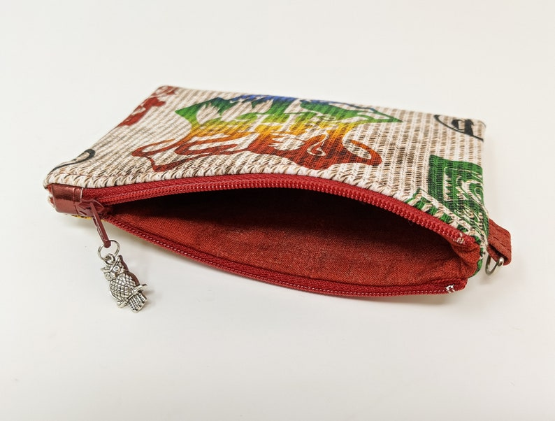 Wizard Shopping and Crests Zipper Pouches