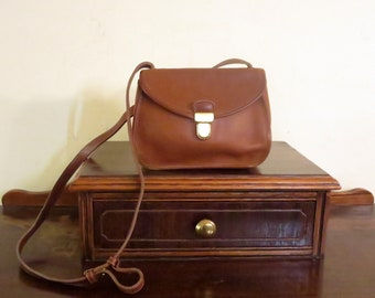 531fe9ba2529 Spring Sale Coach Ashland Bag In British Tan Leather With Crossbody Strap  and Brass Touch Lock Closure - Style No 9914- VGC