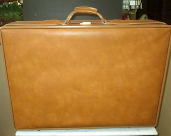 Etsy BDay Sale Hartmann Belting Leather Large Suitcase With Brass Hardware - VGC
