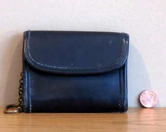Dads Grads Sale Coach Multi Function Purse Wallet With Key FOB- Black Leather No 7219- Very Good Condition