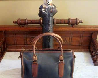 Etsy BDay Sale Coach Madison Satchel Spectator Navy And Tabac Doctor Bag Style No 6765- U.S.A. Made- Gc -No Strap