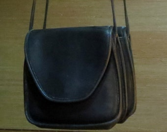 Dads Grads Sale Coach Lindsay Bag In Black Leather With Brass Hardware - Style No 9888 Made In United States - VGC