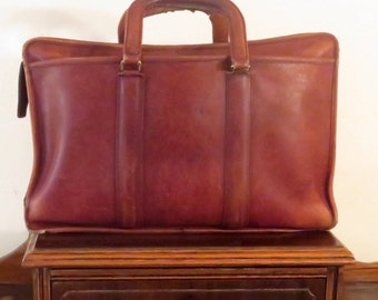 Dads Grads Sale Coach Embassy Briefcase In Burgundy Leather Made In The United States- Style No 5090 - Beautifully Worn