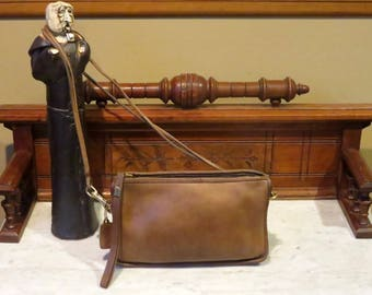 Etsy BDay Sale Coach Basic Bag In Tabac (Saddle ?) Leather With Brass Hardware Style No 9455 - Made In New York City - GUC