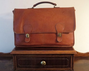 Dads Grads Sale Coach Diplomat British Tan Double Gusseted Briefcase Attache Laptop Case- Made In The 'Factory' In New York City - VGC