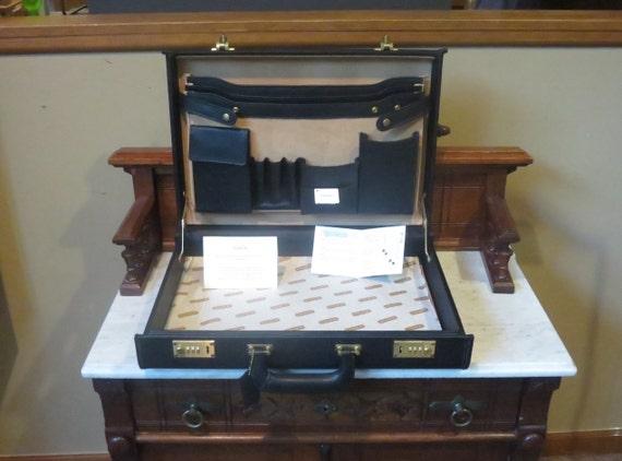 Coach Attache 4 Inch Hard-sided Briefcase In Black