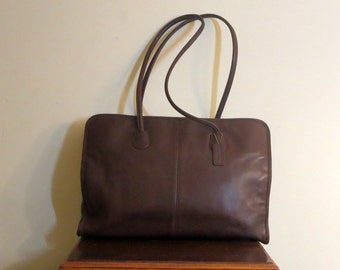 Etsy BDay SaleCoach Legal Tote In Mahogany Leather Style No 7307 - VGC