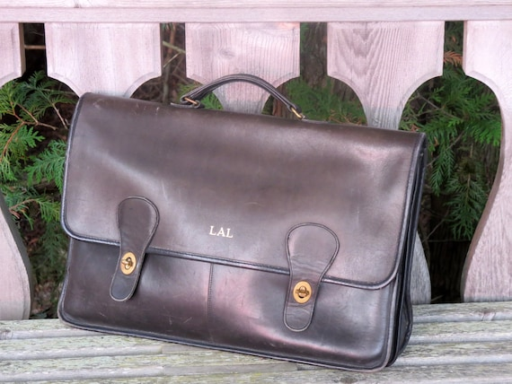 a0b6a89b3572d Labor Day Sale Coach Diplomat Briefcase in Black Leather With Brass  Hardware- Style 5170- Made In The 'Factory' In New York City - VGC