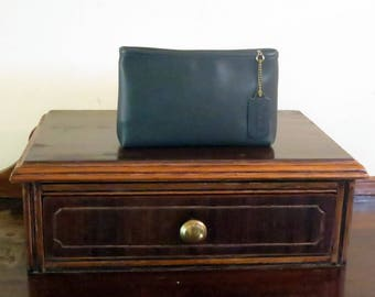 Dads Grads Sale Coach Cosmetic Case Large In Bottle Green - EUC