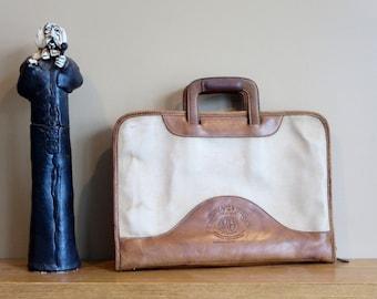 "Etsy BDay SaleGhurka Marley Hodgson Chestnut Leather No. 24 ""The Attache"" Registration No. F 1761- Circa 1983 -Handmade U.S.A."