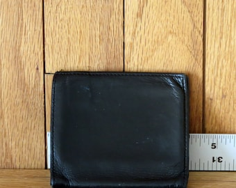 Dads Grads Sale Coach Tumbled Black Cafskin Compact Coin Wallet- Style No 5634
