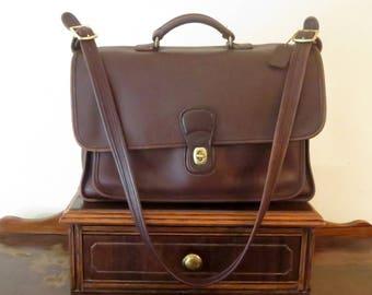 Dads Grads Sale Coach Metropolitan Briefcase Attache In Mahogany (Brown) - Style No. 5180 - Made In United States- VGC