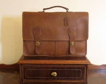 Dads Grads Sale Coach Brief Bag In Tabac Leather Made In ' The  Factory' In New York City Style No. 5080 EUC- Rare