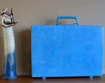 Dads Grads Sale Vintage Samsonite Baby Blue Hard Shell Briefcase Attache - Rare Retro Case