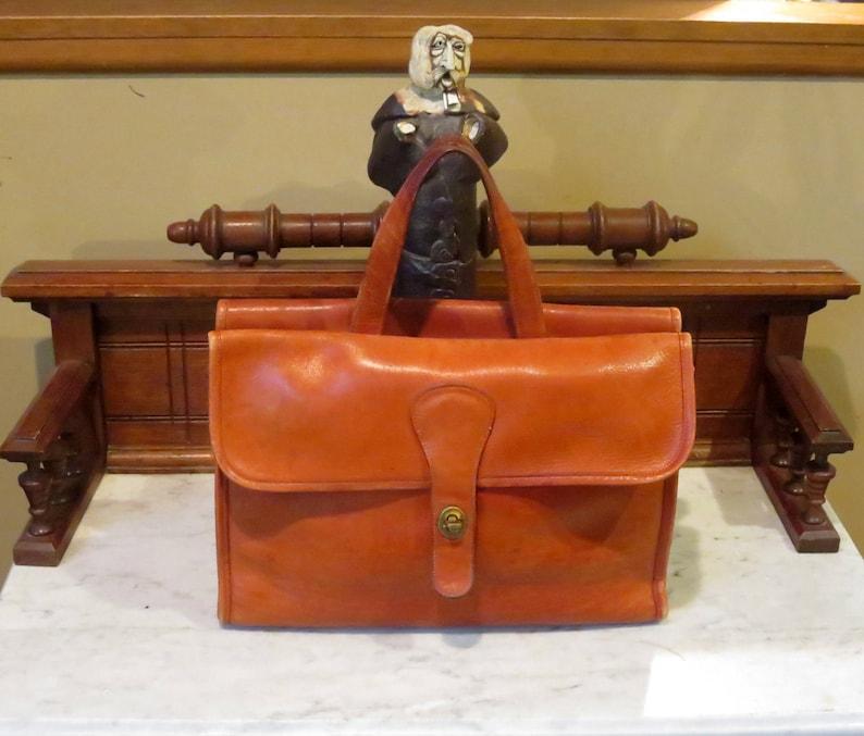 4fd16a0e20633 Labor Day Sale Coach Bonnie Cashin Era Double Sided Briefcase Tote In Burnt  Orange Leather - Made In New York City- VGC- Rare Bag