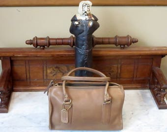 Dads Grads Sale Coach Madison Satchel In Tabac Leather Style No. 9725- Made In The Factory In NYC- VGC