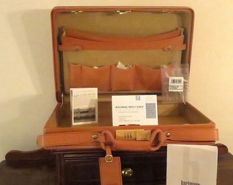 "Dads Grads Sale Vintage Hartmann 4700 Belting Leather 4"" Briefcase Attache NEVER USED- Original Tags- Made In U.S.A"