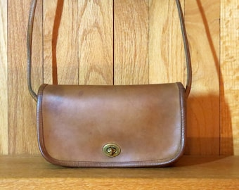 Etsy BDay Sale NYC Dinky Bag In Saddle (Tabac ?) Leather - Slightly Distressed- Very Nice