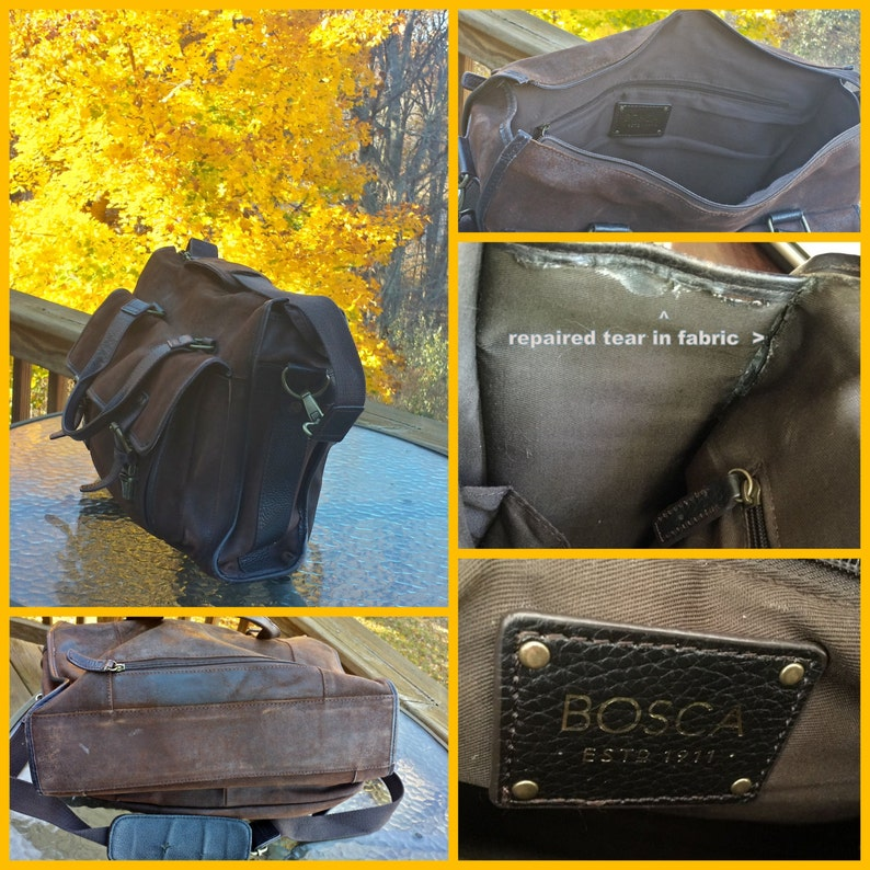VGC Bosca Mult-pocketed Messenger Mailbag Style Laptop IPad Carrier With Handle and Strap