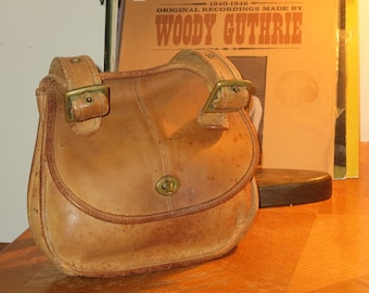 Dads Grads Sale Coach Crescent 'Speckled' Saddle Leather Shoulder Bag Made In New York City- Beautifully Speckled Like Morning Dew Drops