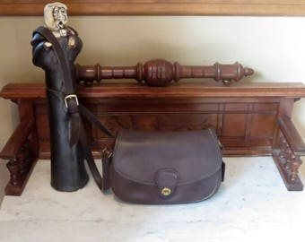 Etsy BDay Sale Coach Prairie Bag In Mahogany Leather With Brass Hardware No. 9954- Made In United States- VGC