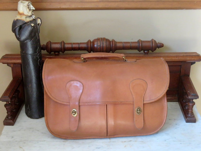 94d5f217c0b9a Labor Day Sale Coach Carrier British Tan Leather Briefcase, Bag, Briefcase  Bag, Laptop Case - Made in the U.S.A.- No Strap