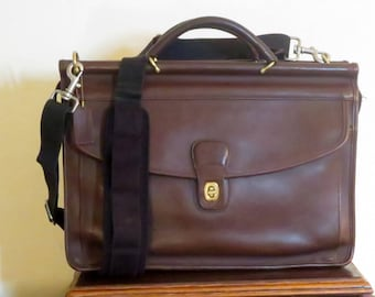 Dads Grads Sale Coach Lenox Brief In Mahogany Leather Style No. 5213- Made In United States -VGC- Replacement Strap