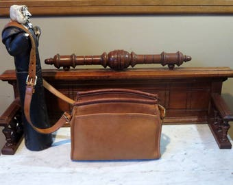 Etsy BDay SaleCoach Carlyle Bag In British Tan Leather Style No. 9854- Made In United States- VGC