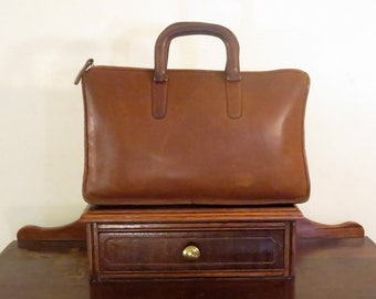 Etsy BDay SaleCoach Handle Portfolio In Brown Leather With Brass Hardware Style No 5050 Made In The Factory In New York City- VGC