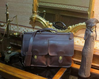 Etsy BDay Sale Coach Kensington Brief In Mahogany Leather With Brass Hardware - Style No 5279- Made In United States -  VGC